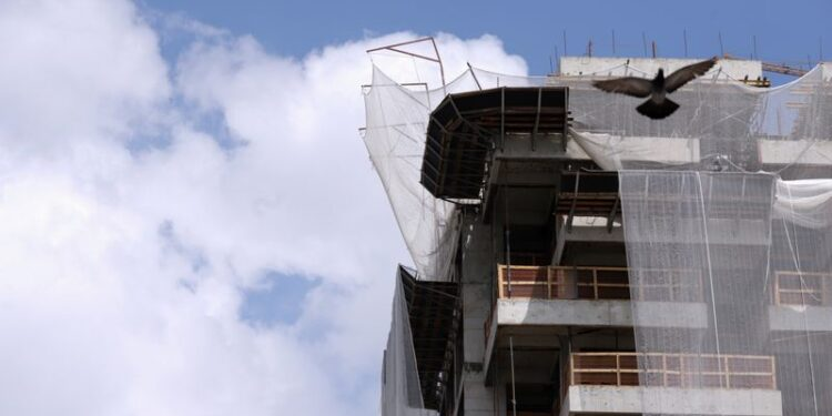 A construction site of a residential building is seen, amid the coronavirus disease (COVID-19) outbreak, in Sao Paulo